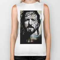 eddie vedder Biker Tanks featuring Eddie  by lyneth Morgan