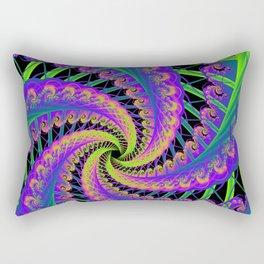 Stitching Fractal Rectangular Pillow
