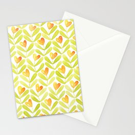 Corazones naranjas Stationery Cards