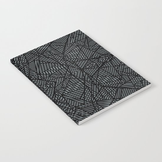 Ab Lace Black and Grey Notebook