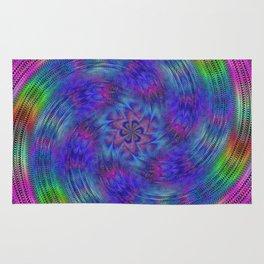 Liquid rainbow Rug