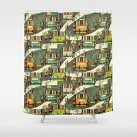 science Shower Curtains featuring science fair by kociara