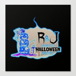 R and J logo white Canvas Print