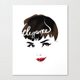 Bombshell Series: Elegance - Audrey Hepburn Canvas Print