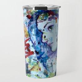 Scribble Girl, Scribble Travel Mug