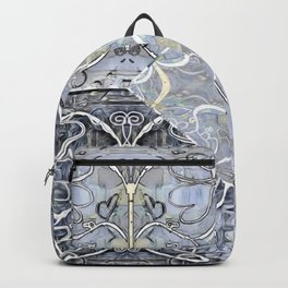 Silver ^ Pewter Butterfly Collage Backpack