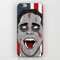 mcfreshcreates iPhone & iPod Skins featuring Psycho Americana by McfreshCreates