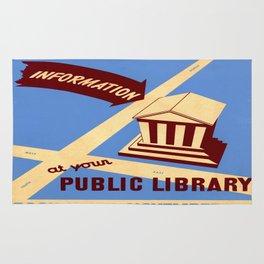 Vintage poster - Book Week Rug