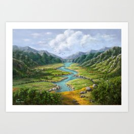 Hidden River Art Print