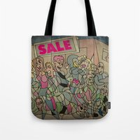 sale Tote Bags featuring Sale by Matt Jeffs