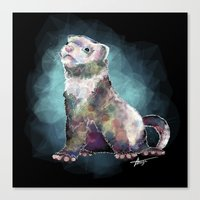 ferret Canvas Prints featuring Ferret Time ! by margaw