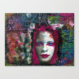 Collage Women Canvas Print