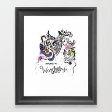 Hey Love Framed Art Print
