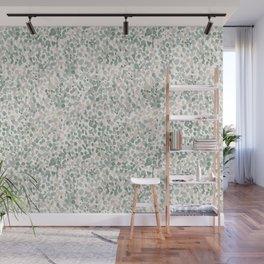 Lighthearted Flamingo Green Wall Mural