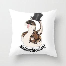 Ssspectacular snake Throw Pillow