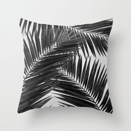 Palm Leaf Black & White III Throw Pillow