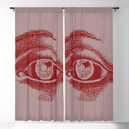 Retro Vintage Color Eye Pattern Blackout Curtain