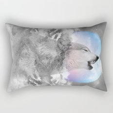 Maybe the Wolf Is In Love with the Moon / Unrequited Love Rectangular Pillow
