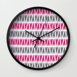 Tee Pee Pink Yarrow Wall Clock