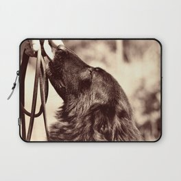 The love of a dog to man Laptop Sleeve