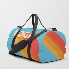 Yoga retro typography Duffle Bag