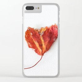 Heart Leaf Clear iPhone Case