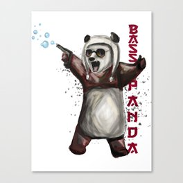 Bass Panda Canvas Print
