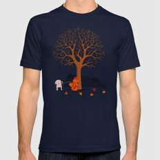 the fall and dog Mens Fitted Tee LARGE Navy
