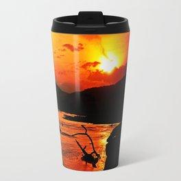 African River Sunset Travel Mug