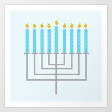 Happy Happy Happy Happy Hanukkah! Art Print