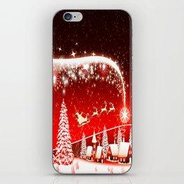 Santa Beautiful Christmas iPhone Skin