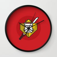 gryffindor Wall Clocks featuring Gryffindor House Crest Icon by Manuja Waldia