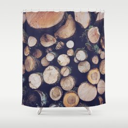 firewood no. 1 Shower Curtain