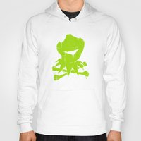 kermit Hoodies featuring Pochoir - Kermit by Krikoui