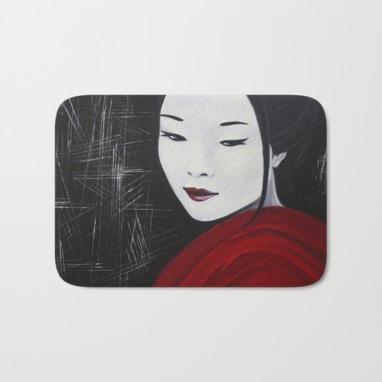 Japanese Beatufil Girl Bath Mat