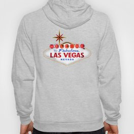 Welcome to Fabulous Las Vegas vintage sign neon on dark background  Hoody