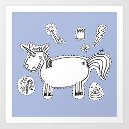 Unicorn starter kit Art Print