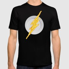Flash Food Mens Fitted Tee SMALL Black