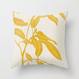 Golden Yellow Leaves #art print#society6 Throw Pillow