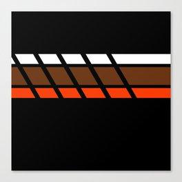 Team Colors 4...Brown ,orange Canvas Print
