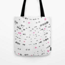 Dot Painting - Pink - Gray Tote Bag