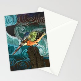 The King Fisher stake out Stationery Cards