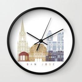 San Jose CR skyline poster Wall Clock