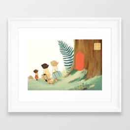 The Littlest Family Came to the Woods by Emily Winfield Martin Framed Art Print