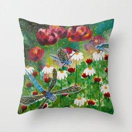 Dusk In The Garden Throw Pillow