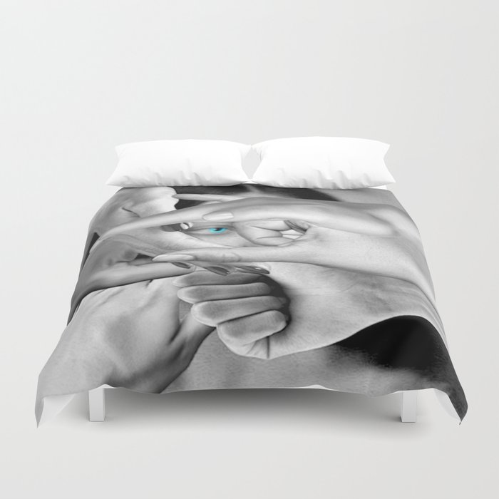 DO YOU SEE ME? Duvet Cover