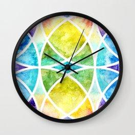 Watercolor circular abstraction Wall Clock