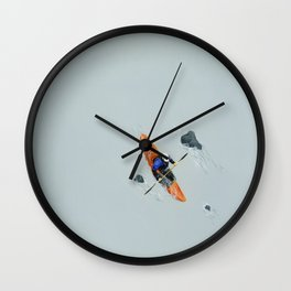Solitude- Kayaker Wall Clock