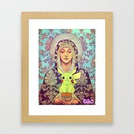 virgin mary pica Framed Art Print