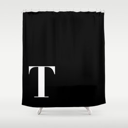 Initial T Shower Curtain